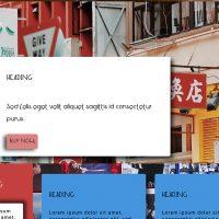 screenshot of site layout
