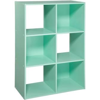 "11"" 6 Cube Organizer Shelf Mint - Room Essentials™"